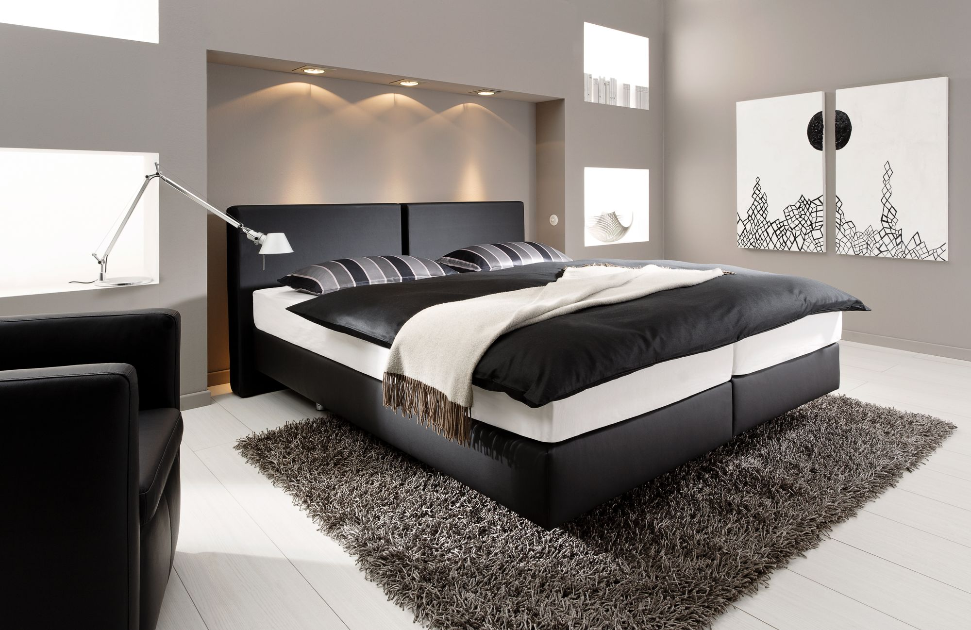 modernes wohnen farben. Black Bedroom Furniture Sets. Home Design Ideas