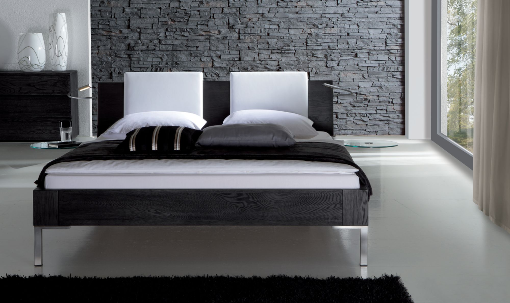 moderne betten catlitterplus. Black Bedroom Furniture Sets. Home Design Ideas